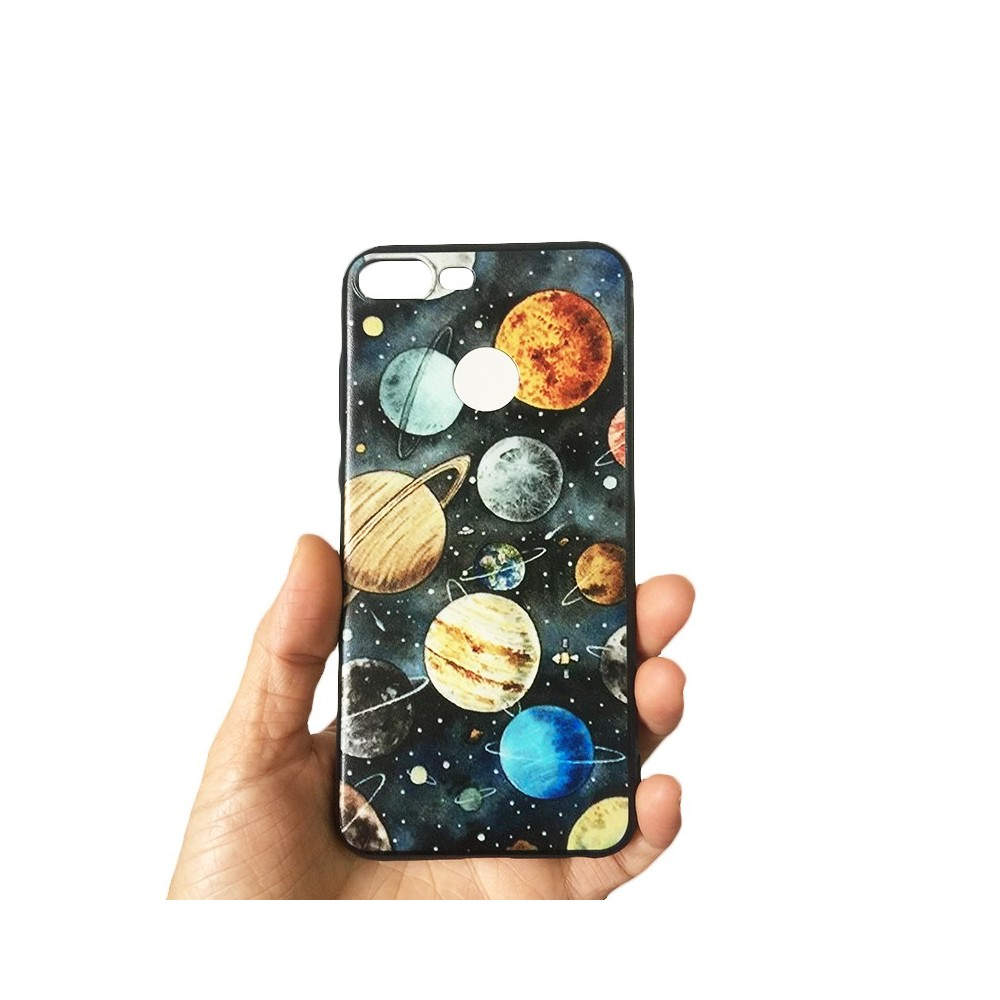Pouzdro pro Huawei Y9 (2019), silikon planety