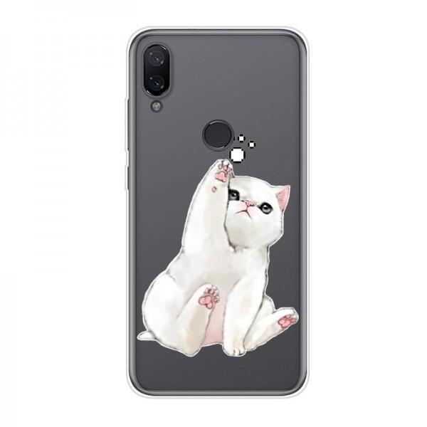 Pouzdro pro Huawei Honor 10 lite, průhledný silikon kotě