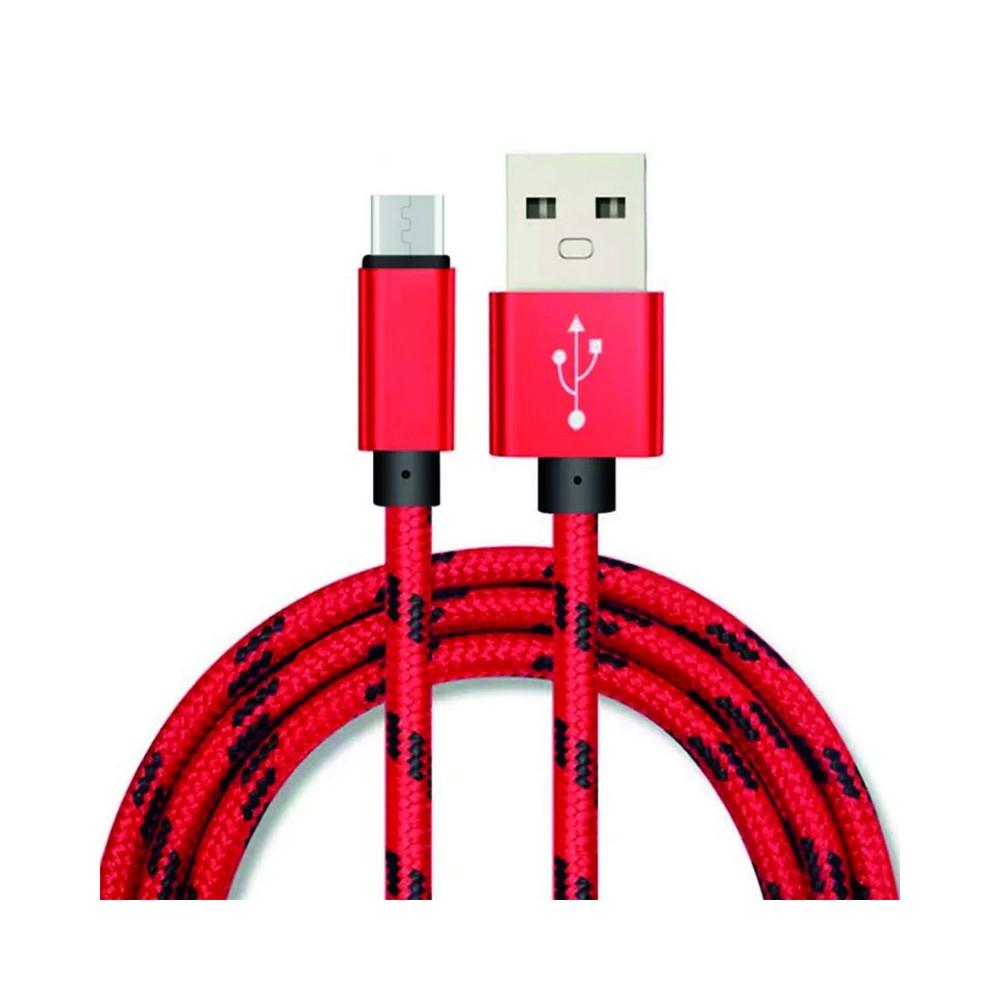 Symfony A3M kabel lightning pro Apple iPhone 3m, textil melír červená