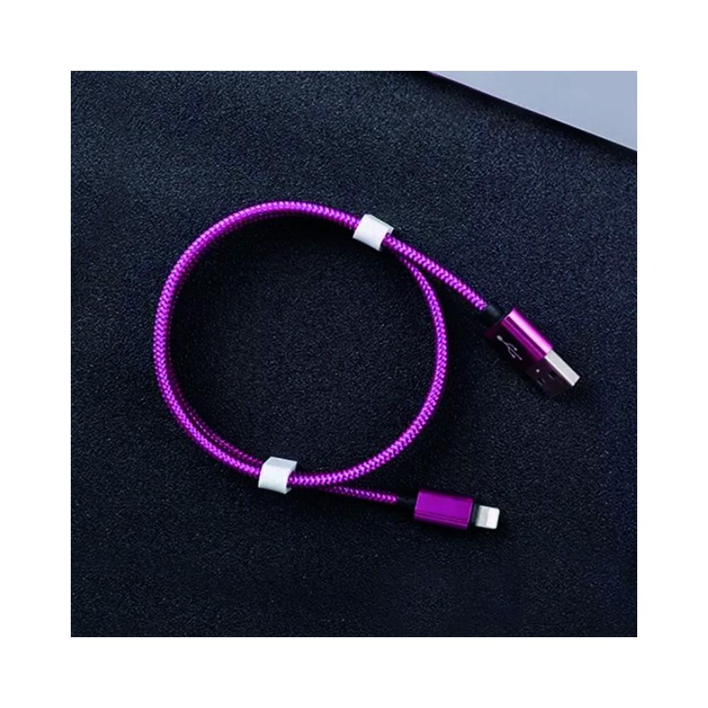 Yocaxn C1T micro USB-C kabel 1m fialový textilní