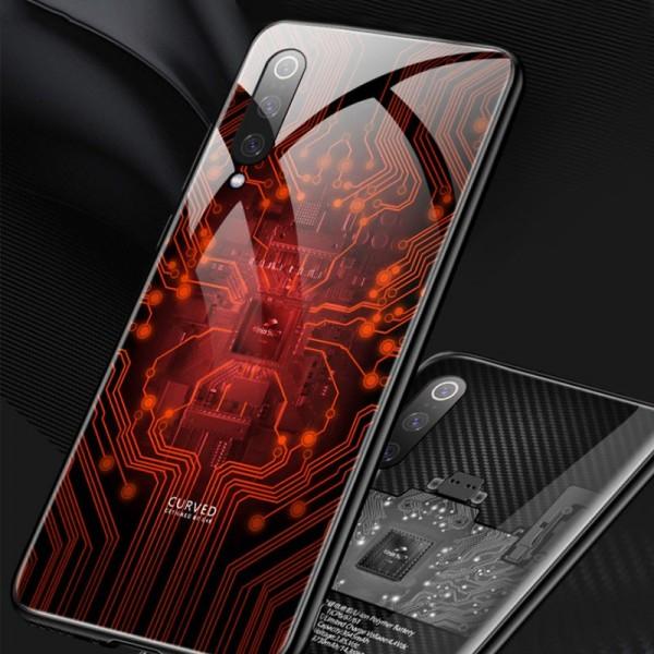 Pouzdro Symfony pro Xiaomi Mi 9T, záda tvrzené sklo, čip