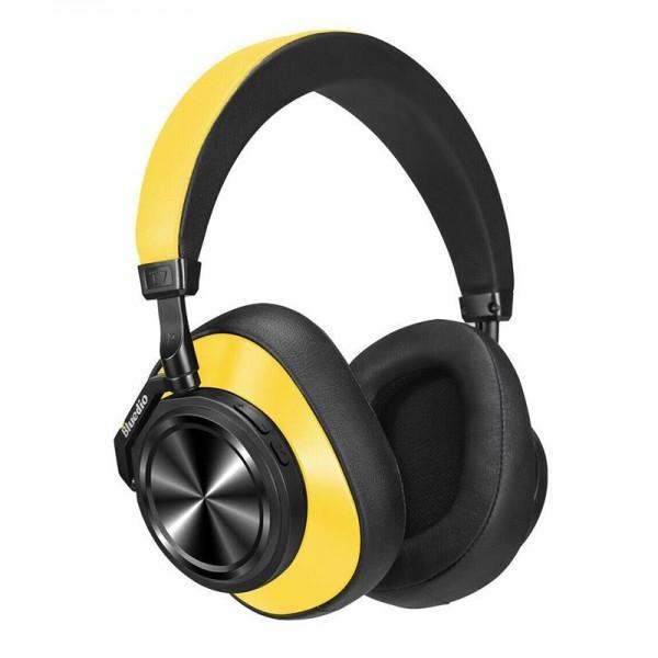 Bluedio T7 kvalitní Hi-Fi kovová sluchátka, žlutá