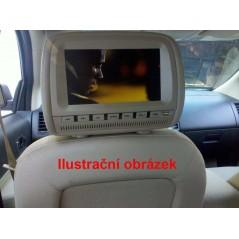 "Opěrka hlavy - 9"" LCD, DVD, Zip kryt, 640 x 234, ČERNÁ"