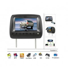 "Opěrka hlavy - 9"" LCD, DVD, DVB-T, Zip kryt, 640 x 234, BÉŽOVÁ"