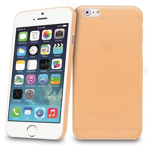 Tenké plastové pouzdro pro iPhone 6, oranžové