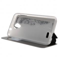 Pouzdro flip pro telefon Doogee DG280 s okénkem, černé