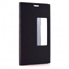 Flipové pouzdro s okénkem pro Doogee F5, černé