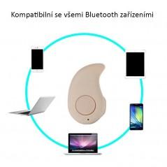 MINI Headset Bluetooth 4.0 s možností přehrávaní hudby