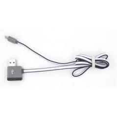 Multifunkční USB kabel z výstupem na další USB 1m černý