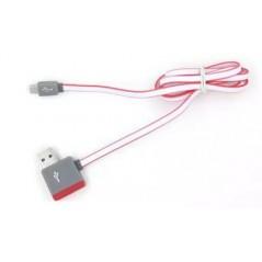 Multifunkční USB kabel z výstupem na další USB 1m růžový