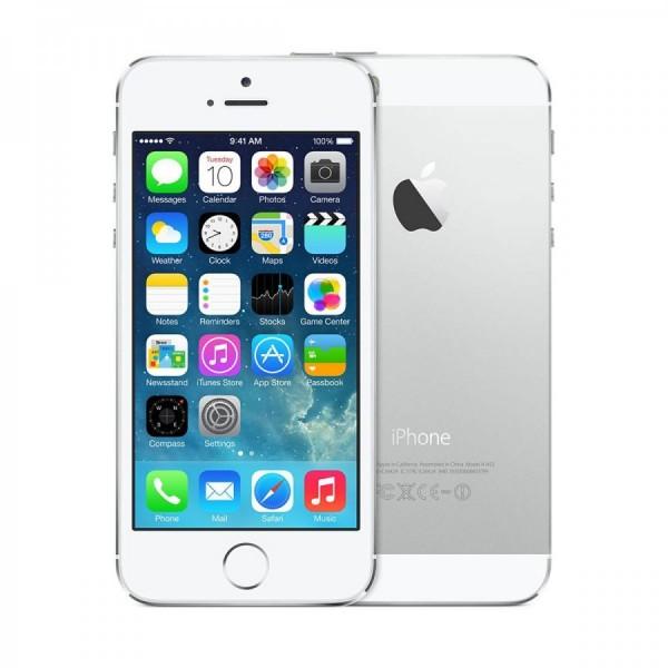 REPASOVANÝ iPhone 5s bíltý 16GB, iOS7, LTE, STAV: A++