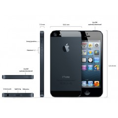 REPASOVANÝ iPhone 5s šedý 16GB, iOS7, LTE, STAV: A++