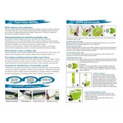 iCLEAN dvojitý rotační čistící mop MOPIK ze solidního materiálu