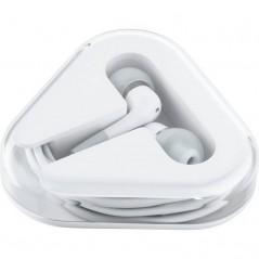Sluchátka do uší s handsfree bílé
