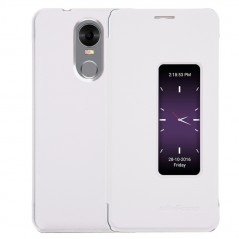 Pouzdro flip s okénkem pro telefon DooGee DG580, bílá koženka