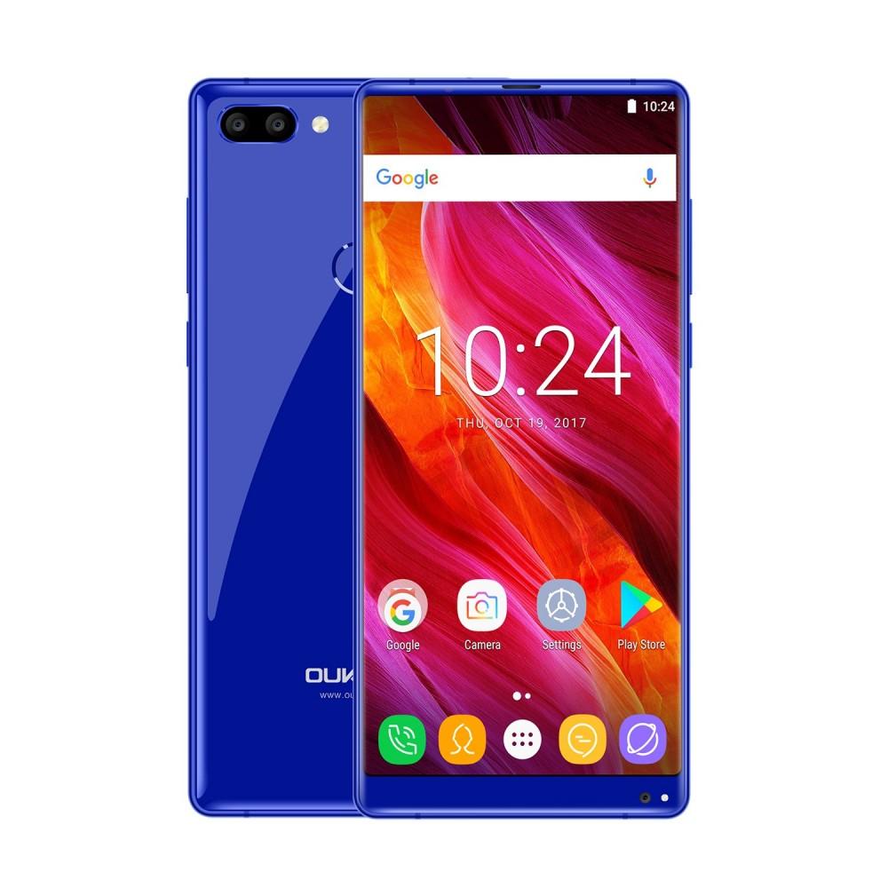 Oukitel Mix 2 modrý 6/64GB, LTE, otisk, dual foto, záruka 25 měsíců a servis