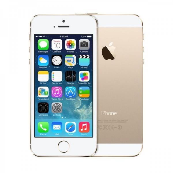 REPASOVANÝ iPhone 5s zlatý 16GB, iOS7, LTE, STAV: A++