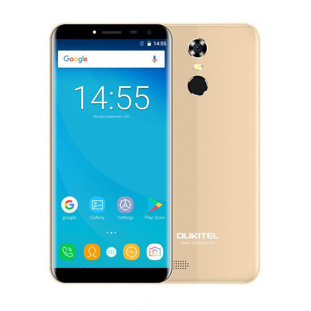 OUKITEL C8 Pro 4G zlatý 2/16GB, 4jádro, otisk + záruka 25 měsíců a servis