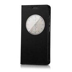 Pouzdro flip s okénkem pro telefon DooGee DG750, černá koženka