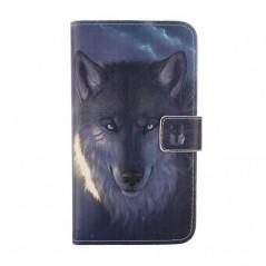 """Kožené pouzdro pro telefon Doogee T3 4.7"""" s motivem vlků"""