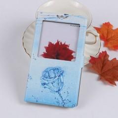 Pouzdro pro DOOGEE X10, flip okénko modrá růže