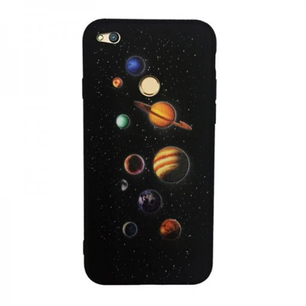 Pouzdro pro Huawei Honor 9 Lite, silikon planety