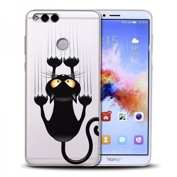 Pouzdro pro HUAWEI Honor 8X, silikon kočka
