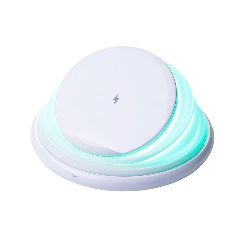 Bezdrátová nabíječka lampa polohovatelná, bílá