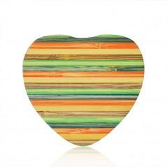 Bezdrátová nabíječka dřevěné srdce, barevná