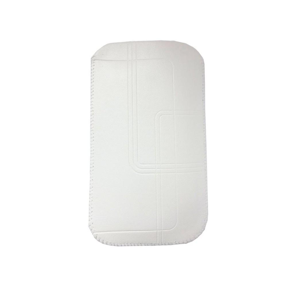 """Zasouvací pouzdro bílé pro telefony 5,5"""" - 5,7"""""""