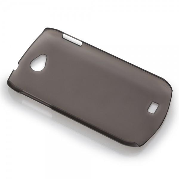 Pouzdro pro telefon DooGee DG110, tvrdší plast, lehce hnědé, zadní pouzdro