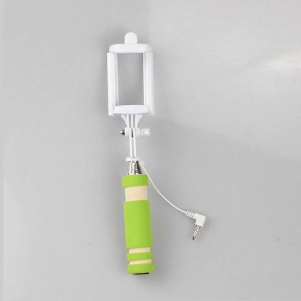 Selfie tyč na mobil, zelená